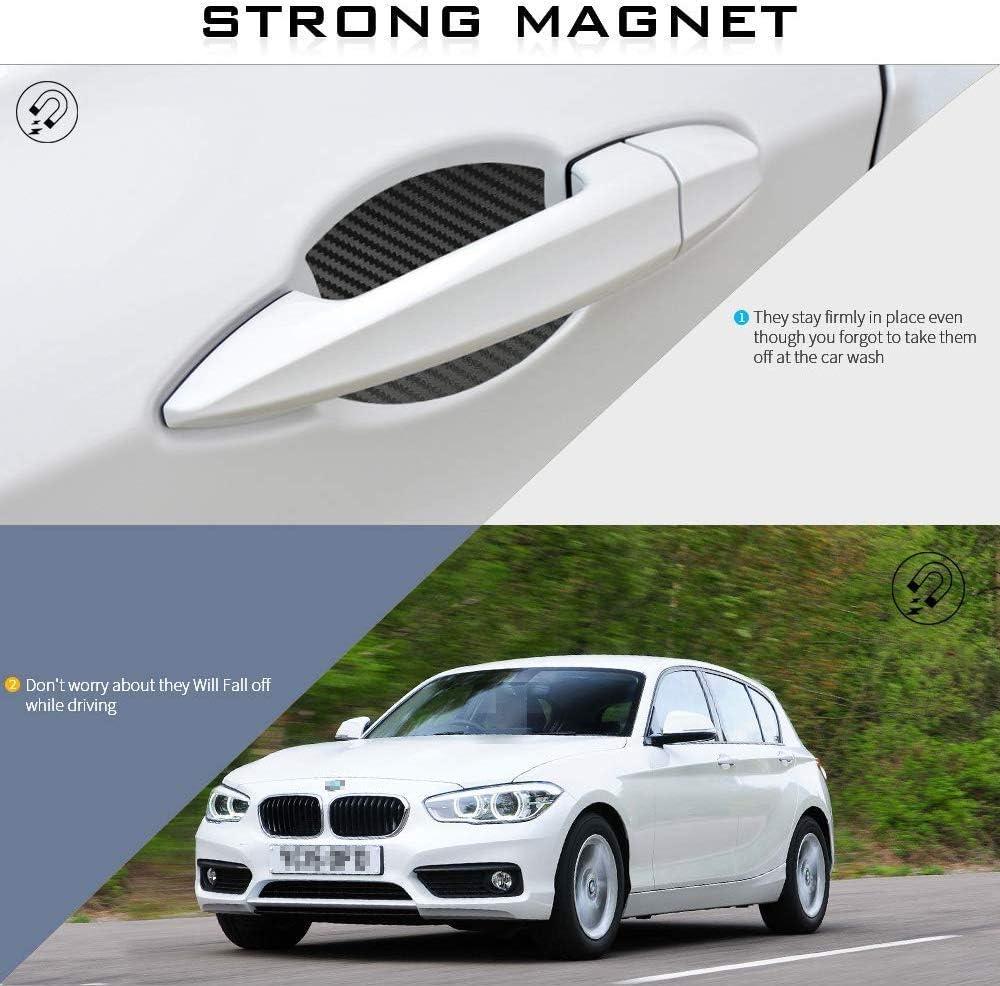 MARCHFA 4St/ück Auto T/ürgriff Kratzer Schutzfolien Magnetische Lackschutzfolie f/ür 1series