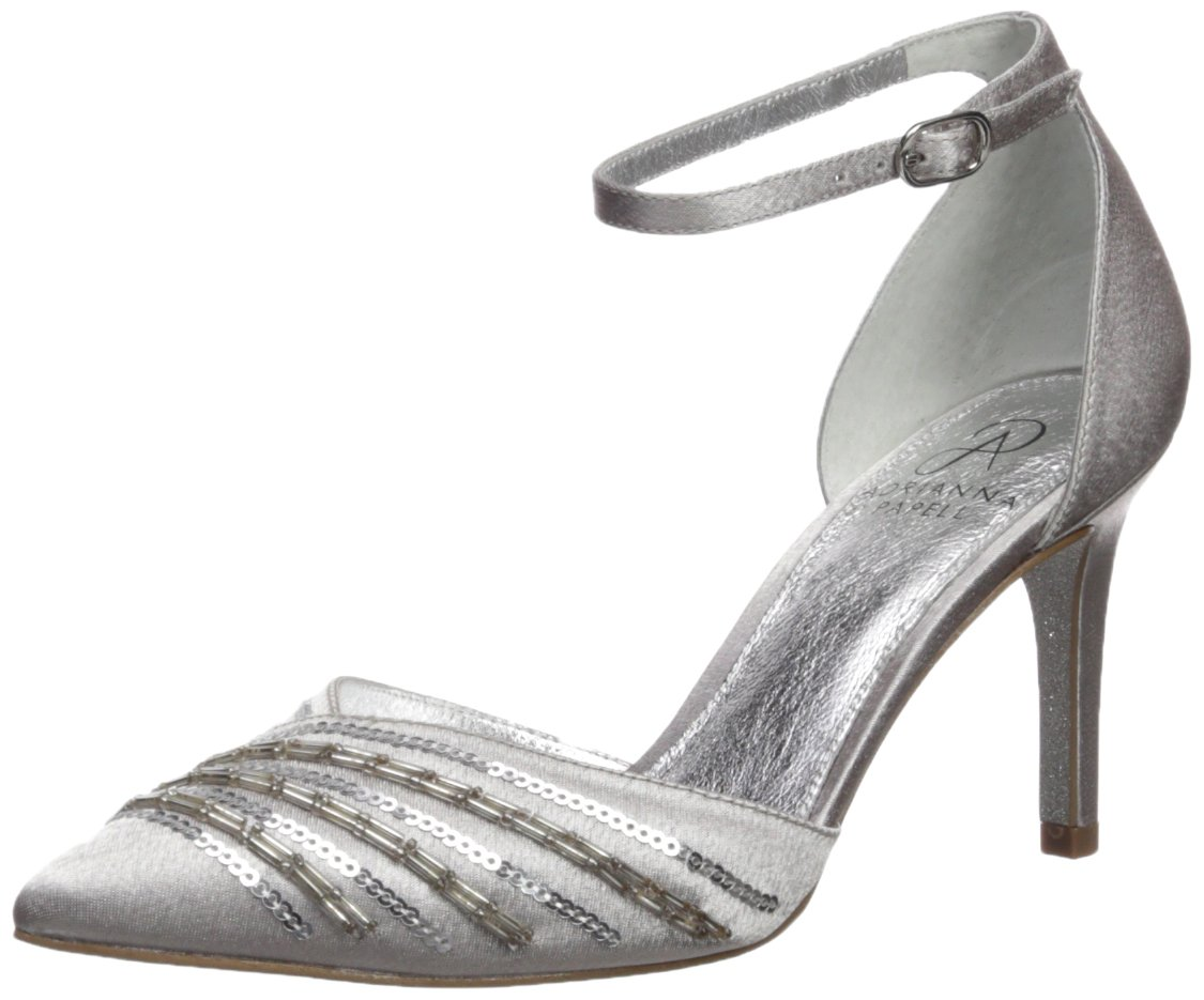 Adrianna Papell Women's Helma Pump B06Y1GMF47 6 B(M) US|Pewter Satin