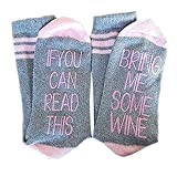 IF You Can Read This PLEASE Bring Me Wine Socks Christmas Gifts For Women(Huiyuzhi- FBA)