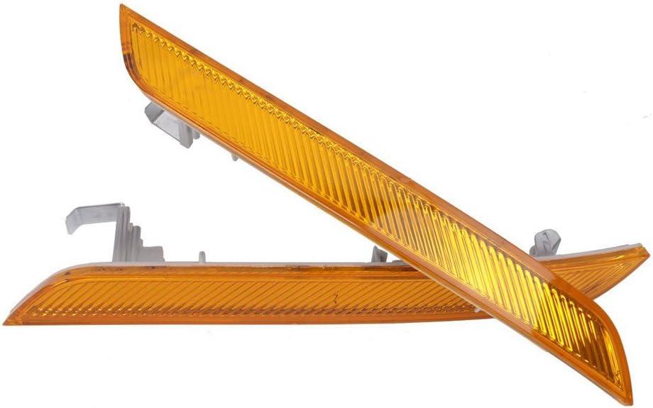 Ricoy Paire pour X6/E71/E72/2007 2014/Pare-Chocs Avant R/éflecteur R/éflecteur de marqueur de C/ôt/é Lampe Jaune