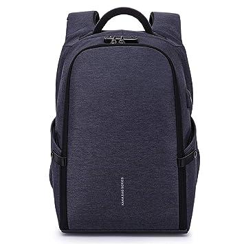Bolso de Hombro Mochila antirrobo Multifuncional Viajes Viajes de Negocios Personalizada Bolsa de Hombro de Carga USB,Azul: Amazon.es: Equipaje