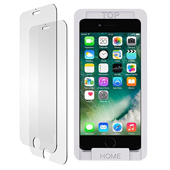 6d82e9ca9fe iPhone 8 7 6s 6 Screen Protector Glass, Trianium iPhone 8, 7 Tempered Glass  Screen (2-Pack) for Apple iPhone 7, iPhone 6s, iPhone 6 2016 2015 2017  (Case ...