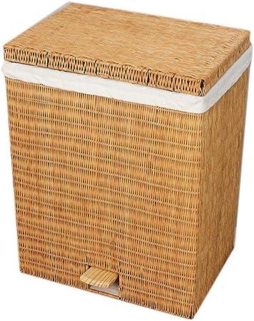 JXM Cesta de Almacenamiento Cuadrado cesto de Mimbre Caja de Almacenamiento bocado Grande Objeto de Juguete Acabado con Pedales (Color : Amarillo): Amazon.es: Hogar