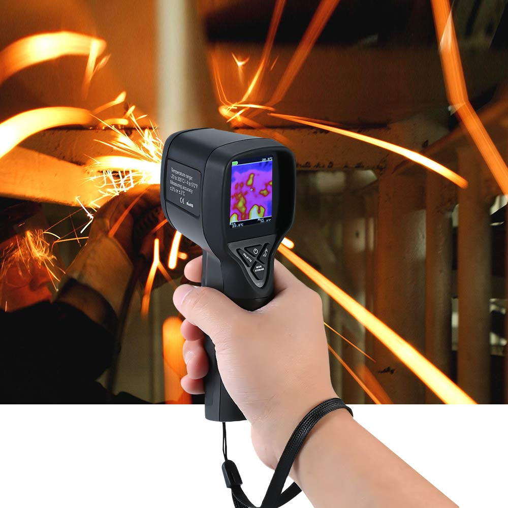 20~300/°C//-4~572/°F Professional Mini LCD Digital Handheld Thermal Imaging Camera Infrared Thermometer Image Resolution 32x32 Built-in Switchable Color Palette with Data Storage Function new Hti