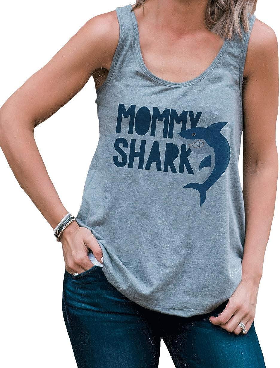 7 ate 9 Apparel Womens Mommy Shark Tank Top