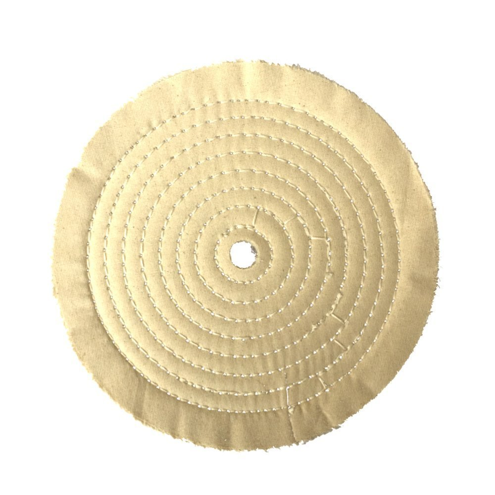 Renegade Products - 8'' Stitched 60 PLY White Mill Treated Buffing Wheel For Knifemaking, Jewelry Polishing And Many Others