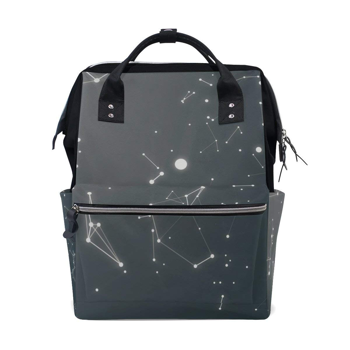 Zodiac And Its Planets Abstract Space Diaper Bags Mummy Backpack Nappy Bag