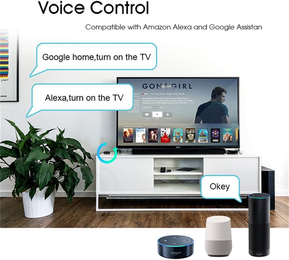 MOES - Control remoto inteligente, wifi, Smart Home, por infrarrojos, universal, un control para todo: TV, DVD, CD, AUD SAT, etc., compatible con tu Alexa y Google Home: Amazon.es: Electrónica