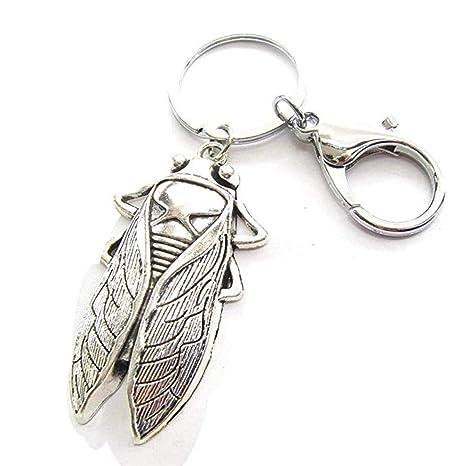Amazon.com: Llavero de latón con insectos de plata y bronce ...