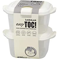 Lock & Lock Easy Toc Food Container 420ml 2P Set White