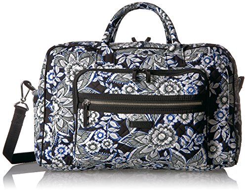 (Vera Bradley Women's Iconic Compact Weekender Travel Bag-Signature, Snow Lotus)