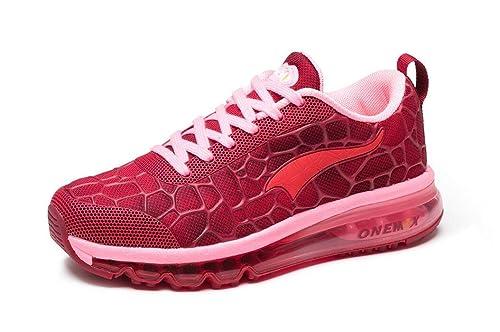 e64dbc0d52de18 onemix Laufschuhe Damen Sportschuhe Leicht Turnschuhe Gute Air Schuhe  Bequeme Sneaker Joggingschuhe Straßenlaufschuhe Rot Größe Gr