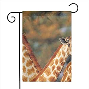 Giraffe Garden Flags House Indoor & Outdoor Holiday Decorations,Waterproof Polyester Yard Decorative for Game Family Party Banner