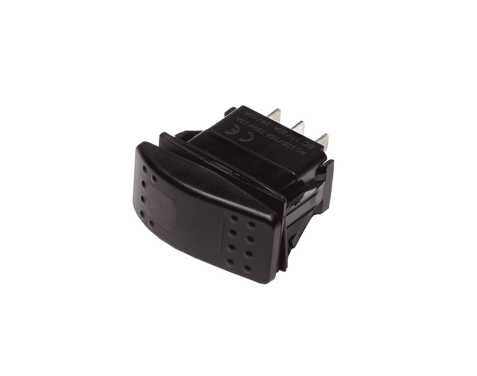 Progressive Automations Rocker Switch Momentary - 20A - Red LED - IP68