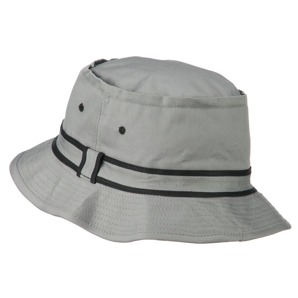 d5ed48519a5 e4Hats.com Striped Hat Band Fisherman Bucket Hat - Grey Black L-XL at  Amazon Men s Clothing store
