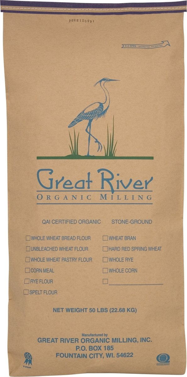 Great River Organic Milling Organic Pancake Mix Five Grain, 50-pounds by Great River Organic Milling