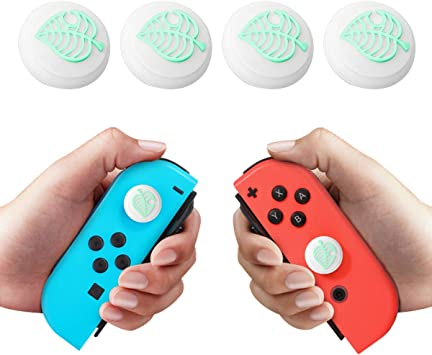 4 PCS Silicone Thumb Grip Caps for Switch & Lite Joystick, Cute Joystick Cap Soft Silicone Cover for Joy-con NS Controller Accessories (Green Leaves): Amazon.es: Electrónica