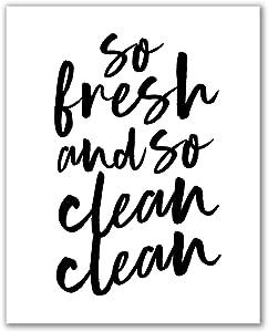 "Midoro So Fresh and So Clean Clean Printable - Unframed, Kids Bathroom Printable Wall Art, Bathroom Wall Decor, Printable Wall Art, Bathroom Wall Art (So Fresh and So Clean Clean 1, 8"" x 10"")"