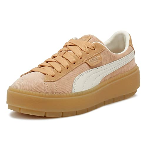 46b4f250534e6d Puma Womens Dusty Coral Corduroy Trace Platform Trainers  Amazon.co ...
