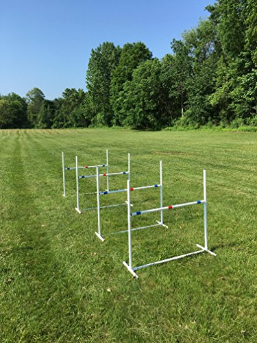 Dog Agility Travel Jump Set | 4 Bar Jumps Total
