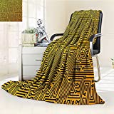 AmaPark Digital Printing Blanket Computer Hardware Circuit Board High Tech Futuristic Web Marig Black Summer Quilt Comforter