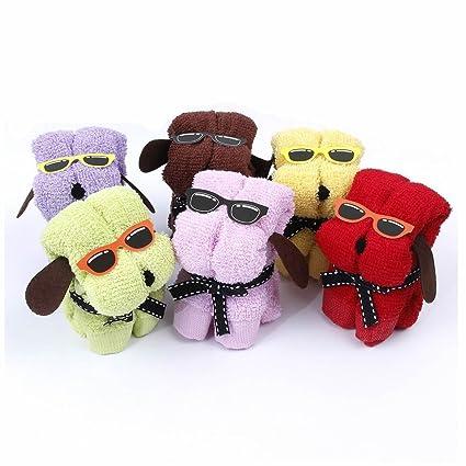 gootrades Juego de 6 toallas de mascota con forma de perro adorno decoración para boda fiesta