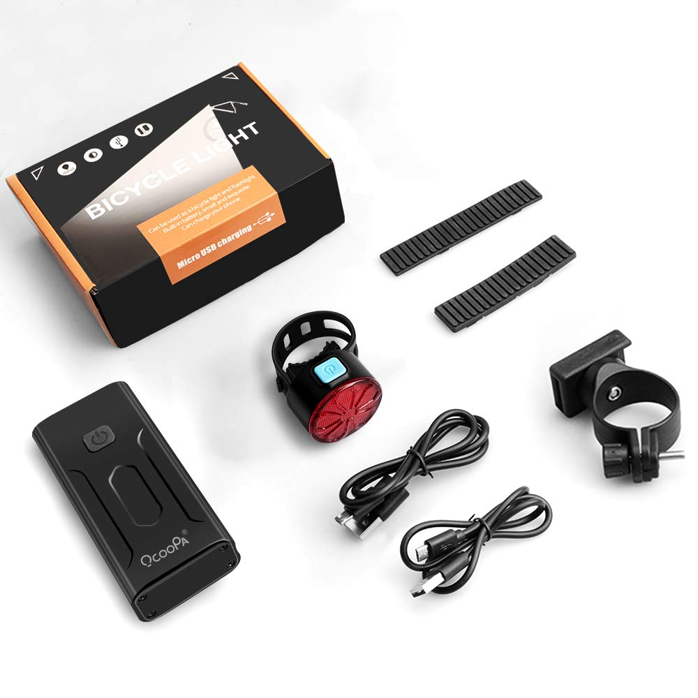 OCOOPA Bike Lights Set Rechargeable 5200mAh USB Bicycle Lights 1200 Lumens 3
