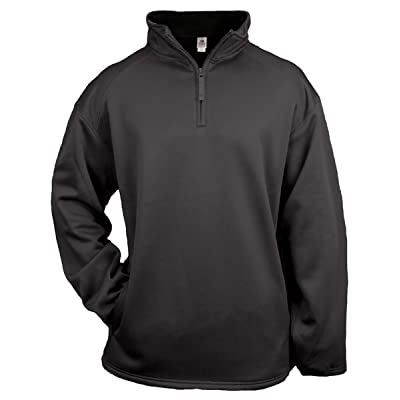 Badger 2480 Youth Quarter Zip Poly Fleece Pullover