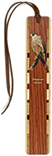 product image for Personalized Peregrine Falcon (Double-Sided) Wooden Bookmark with Suede Tassel
