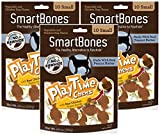(3 Pack) SmartBones Play Time Small Peanut Butter Treat Chews for Dogs – 10 Bones per Pack