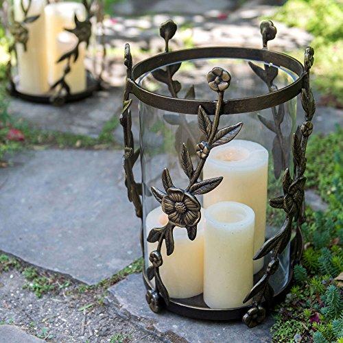 Viridian Bay Jardin Hurricane Candle Holder