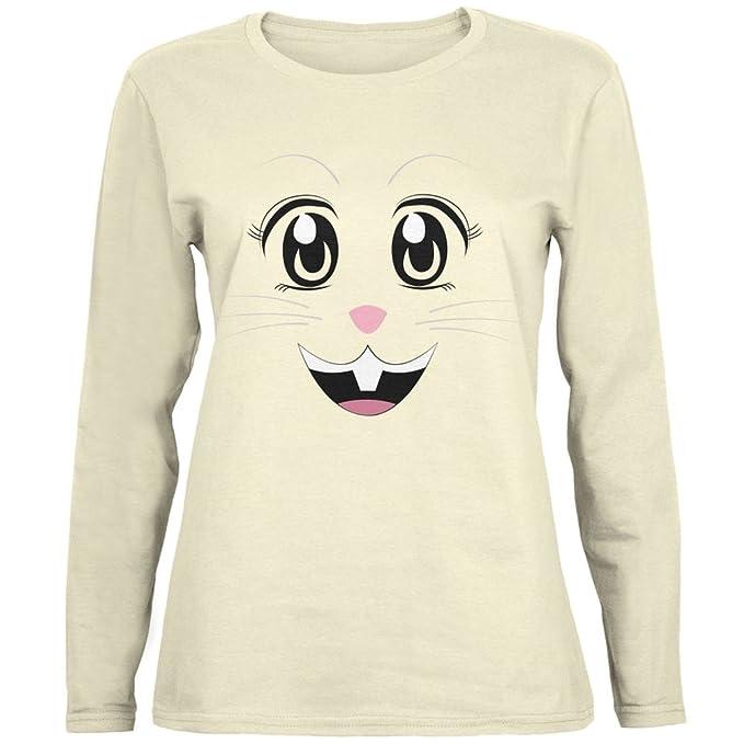 Anime cara de conejo Usagi Natural para mujer camiseta de manga larga: Amazon.es: Ropa y accesorios