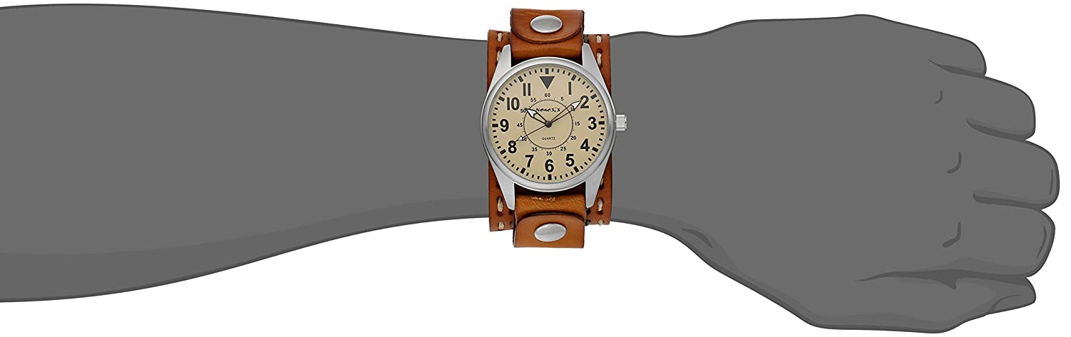 Nemesis Men s 095BDST-N Unique Series Analog Display Japanese Quartz Brown Watch