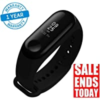 Azacus M3 Band Bluetooth 4.0 Sweatproof Smart & Sleek Fitness Wristband with Heart Rate Monitor Tracker