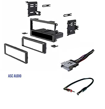61DC64UoquL._SY355_ amazon com asc car stereo dash kit, wire harness, antenna adapter  at aneh.co