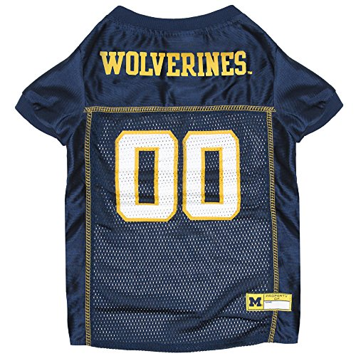 Pets First Collegiate Michigan Wolverines Dog Mesh Jersey, Medium