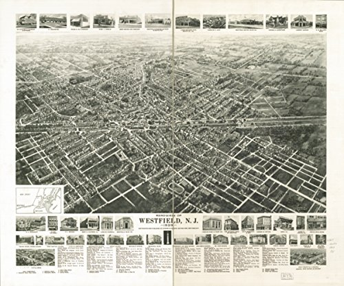 Map: 1929 Aero-view of Westfield, N.J. 1929|New Jersey|Westfield|Westfield - Shop Westfield Online