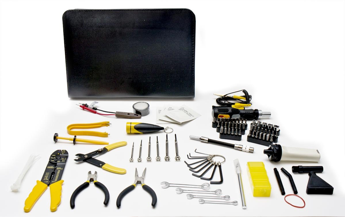 com piece computer technician tool kit for repairing com 100 piece computer technician tool kit for repairing wiring cleaning and testing electronics