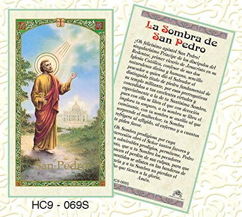 La Sombra de San Pedro Paper Prayer Cards - Pack of 100 - - San Pedro Store