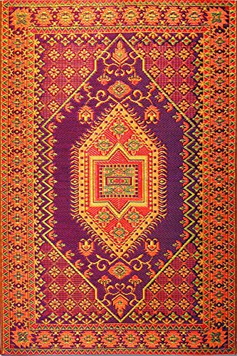(Mad Mats Oriental Turkish Indoor/Outdoor Floor Mat, 6 by 9-Feet, Rust)