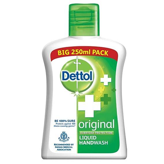 Dettol Original Germ Protection Handwash Liquid Soap Flip Top, 250ml