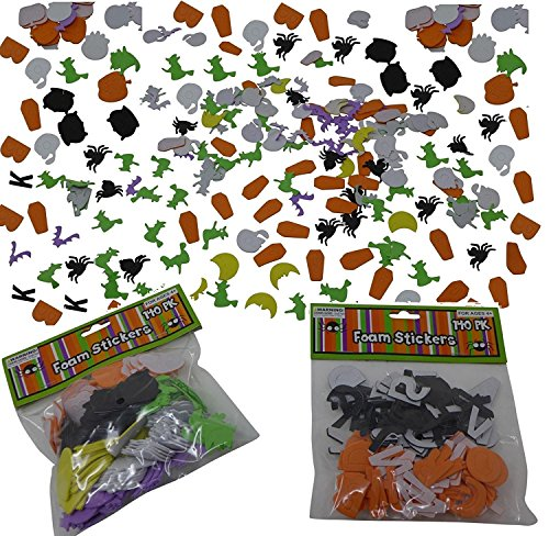 280 Pieces Halloween Foam Stickers (Self Adhesive, Alphabets & Shapes Style) | Perfect For Party Decoration, Art & (Cute Halloween Craft Ideas For Toddlers)