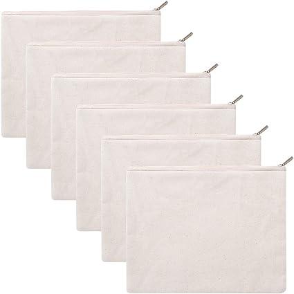 6 bolsas de lona de algodón de 340 g con cremallera de la marca ...