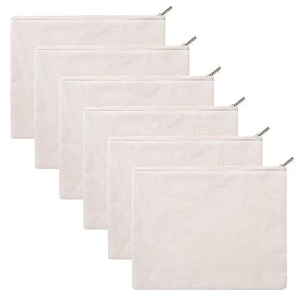 Aspire 6 Pack 12oz Bolsas de algodón con cremallera, 8