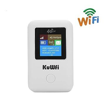 KuWFi desbloqueó el enrutador WiFi 4G LTE con Ranura para ...
