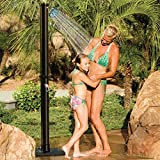 GAME 4379 Wood-Grain Outdoor Solar Shower w/LED