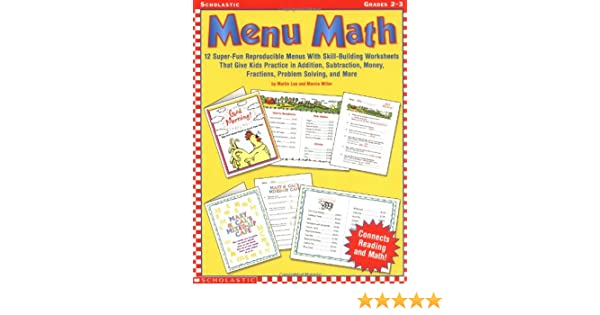 Amazon.com: Menu Math, Grades 2-3 (9780439227254): Martin Lee ...