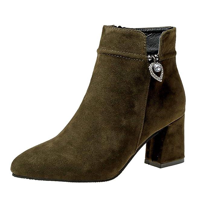 YiYLunneo 2018 Botas De Nieve Mujer Invierno Botines Plataforma Imitacion Zapatos Casuales Navidad CN 36-43: Amazon.es: Ropa y accesorios