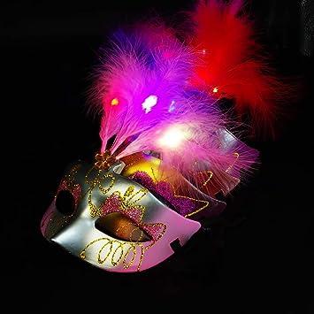 RSGK Máscara del Traje de Las Mujeres del LED, mascarilla de ...