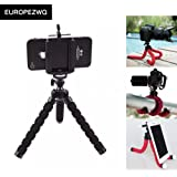 Mini Flexible Octopus Stand Tripod Mount For iPhone Samsung Camera Video Phone (Black)